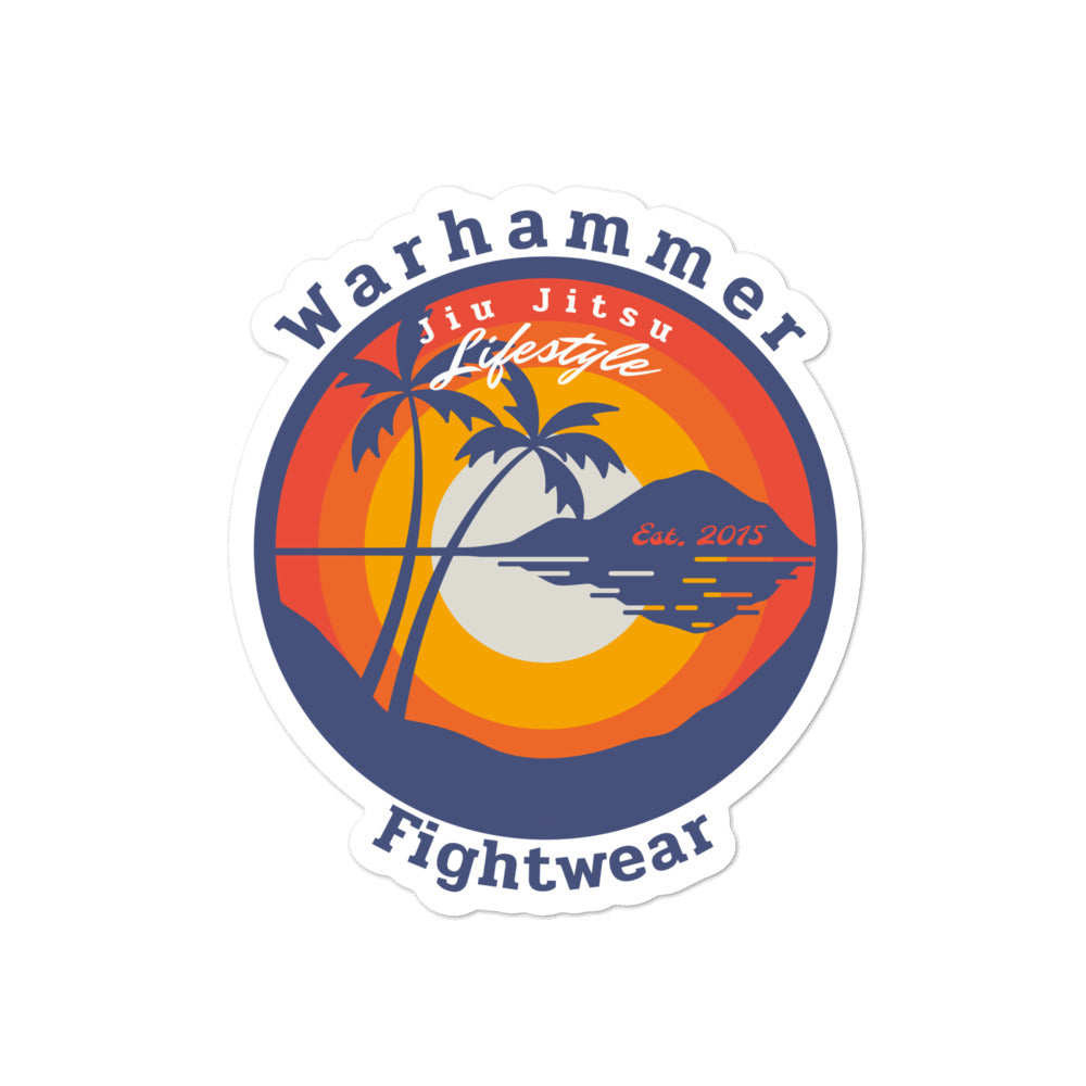 Warhammer Fightwear Jiu Jitsu Lifestyle Bubble-free stickers - Warhammer Fightwear