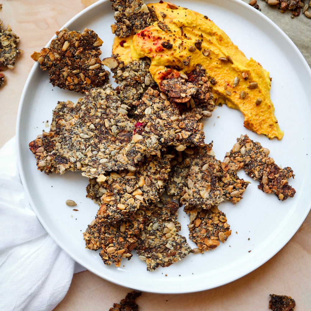 super seed plantain crackers