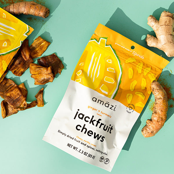 Ginger Turmeric Jackfruit Chews - 6 Pack 1
