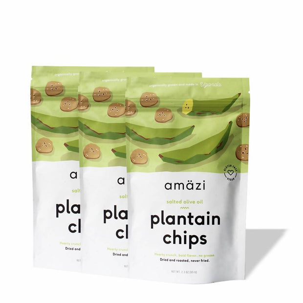 Salted Olive Oil Plantain Chips - 6 Pack 1