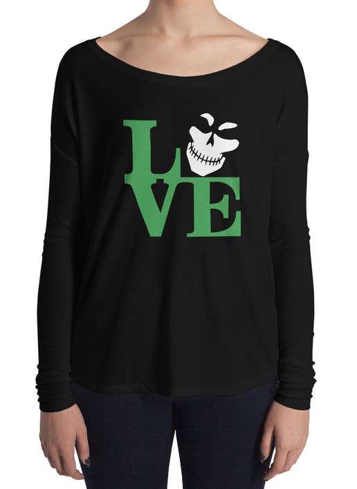 Green Legion LOVE Flowy Long Sleeve T-Shirt