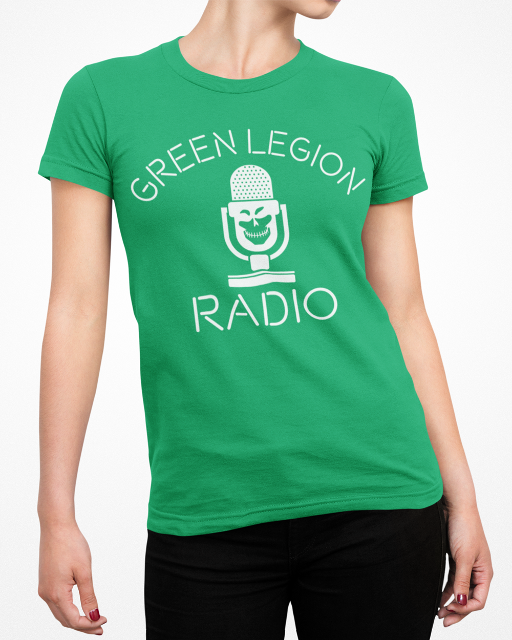 Green Legion Radio Retro Kelly Green T-Shirt
