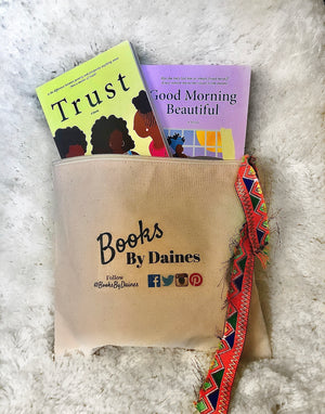 Book Bundle- Trust and Good Morning Beautiful w/ Natural Canvas Zipper Pouch