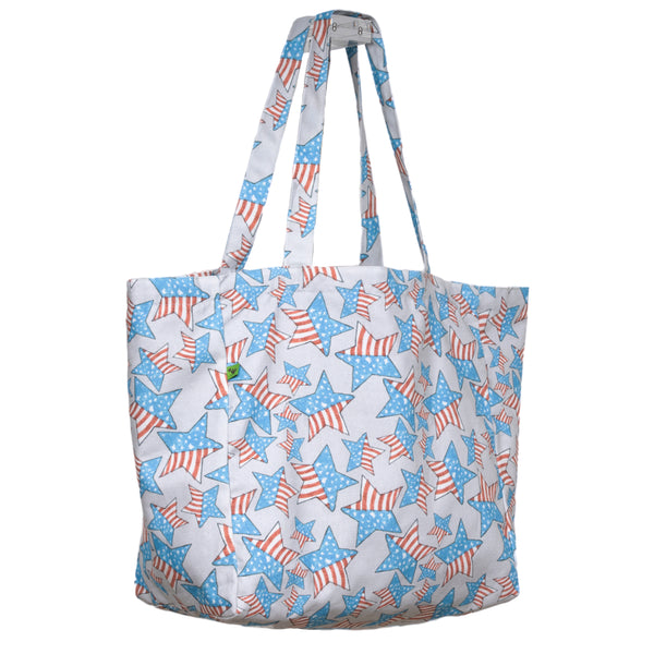 AMERICAN STARS ON THE GO TOTE BAG