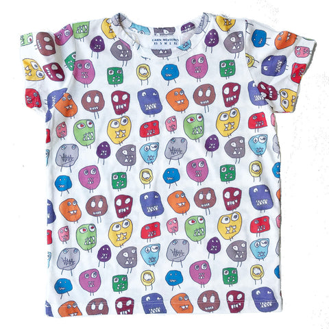 MONSTER ALL-OVER PRINT KIDS TEE