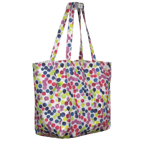 POLKA DOT KEEP 'EM SEPARATED CANVAS TOTE BAG