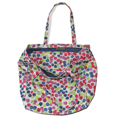 POLKA DOT CANVAS TOTE BAG