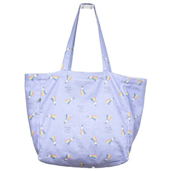 SHINE YOUR LIGHT ON THE GO TOTE BAG