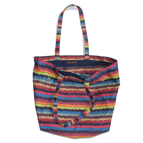 ZIGZAG CANVAS TOTE BAG