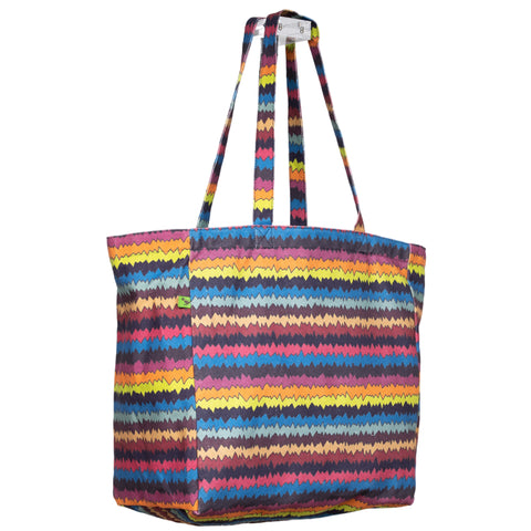 ZIGZAG KEEP 'EM SEPARATED CANVAS TOTE BAG