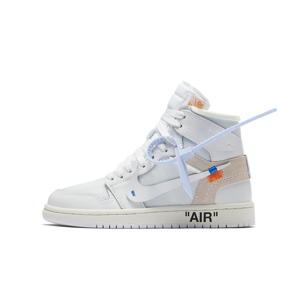 82f958b00d48 Nike x Off-White Air Jordan 1 Retro High - White (GS) – PYGRAILS LTD