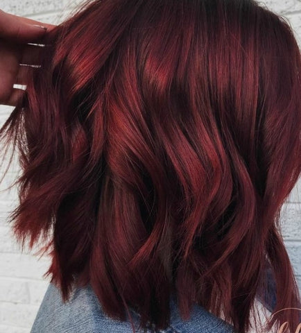 Mulled wine colored hair, for Untangled