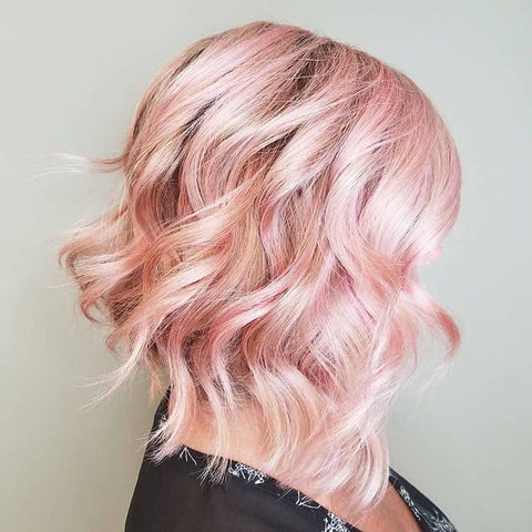 Woman with pastel pink hair, for Untangled