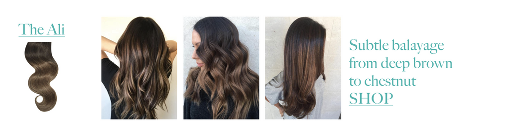 The Ali Brown Balayage Hair Extensions
