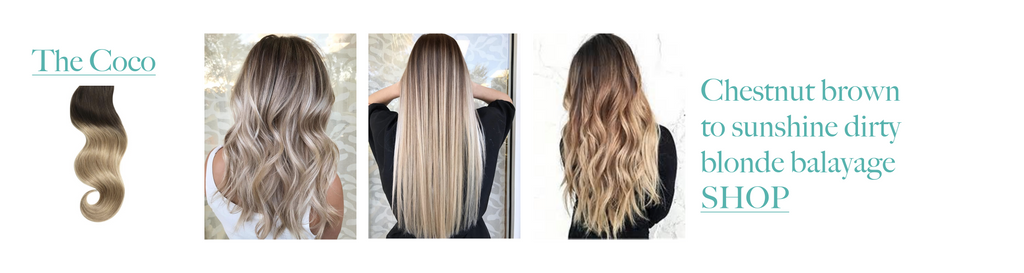 The Coco Brown to Blonde Balayage Hair Extensions