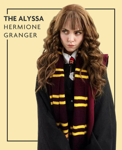 The Alyssa extensions in Hermione from Harry Potter costume, for Untangled blog