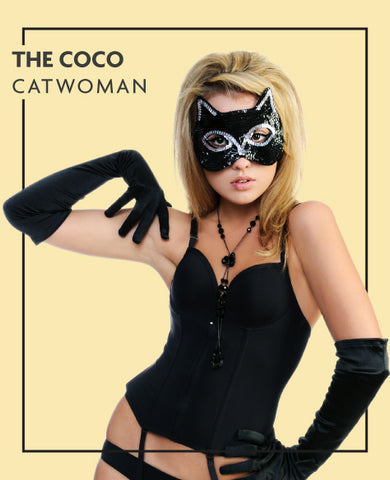 The Coco extensions in Cat Woman costume, for Untangled blog