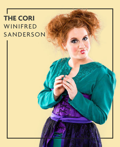 The Cori extensions in Winifred Sanderson costume, for Untangled blog