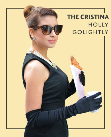 The Cristina extensions in Holly Golightly costume, for Untangled blog