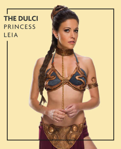 The Dulci extensions in Princess Lea from Star Wars costume, for Untangled blog