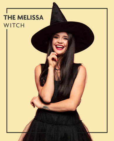 The Melissa extensions in witch costume, for Untangled blog