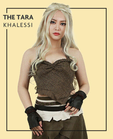The Tara extensions in Khalessi costume, for Untangled blog