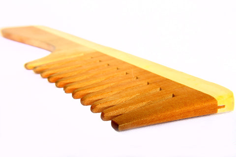 A wooden comb, for Untangled