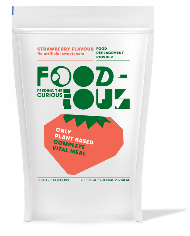 Foodious Meal Replacement Powder Strawberry Flavour Package