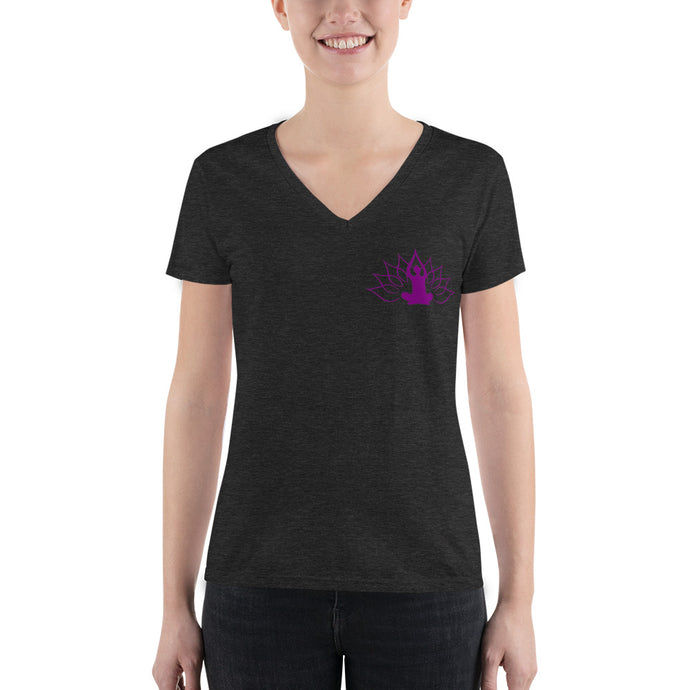 Yoga Divine Women's V-neck Tee