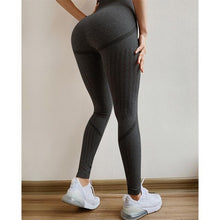 Load image into Gallery viewer, Yoga Divine Peekaboo Seamless Leggings