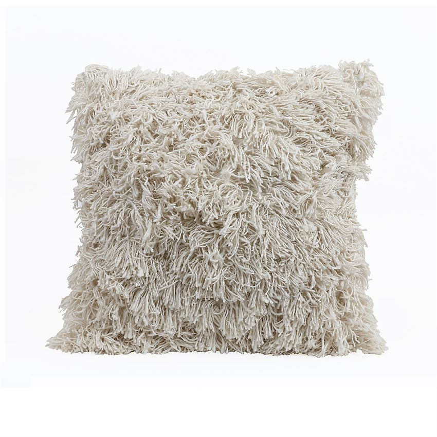 COTTON & RAYON PILLOW WITH FRINGE