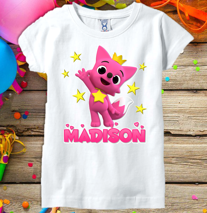 76928a7f Baby Shark Pinkfong Fox Girls Party Personalized Custom T Shirt or Onesie -  All Sizes