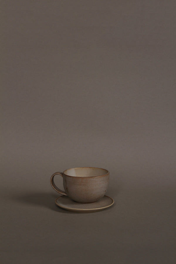 Classic cup with handle and plate, size S