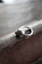 Silver ring with movable seashell