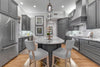 Gray Kitchen and Island