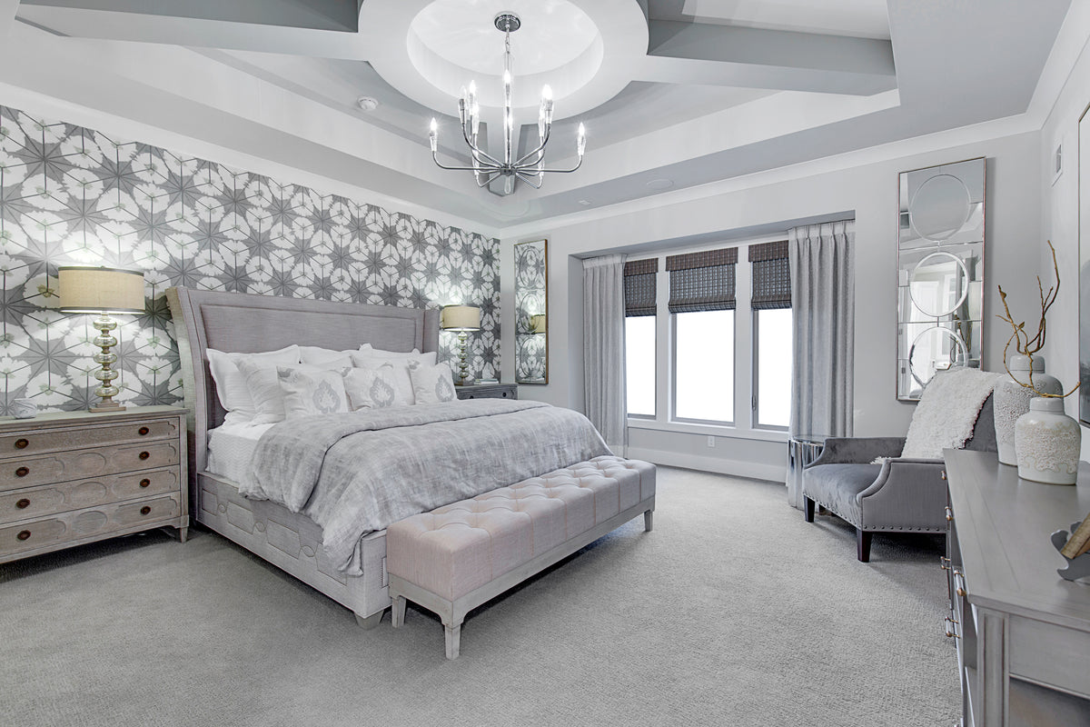 Gray and White Modern Bedroom
