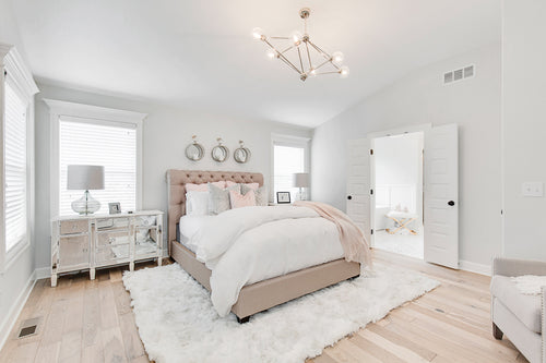 White Bedroom and Bathroom