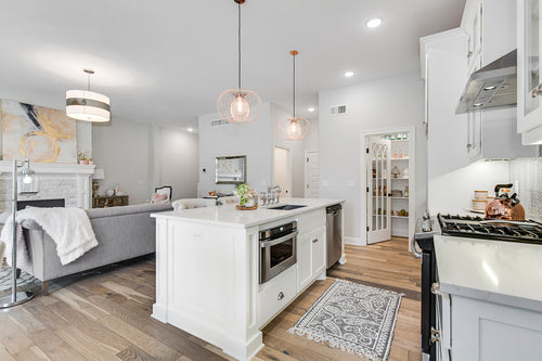 White Kitchen and Pantry