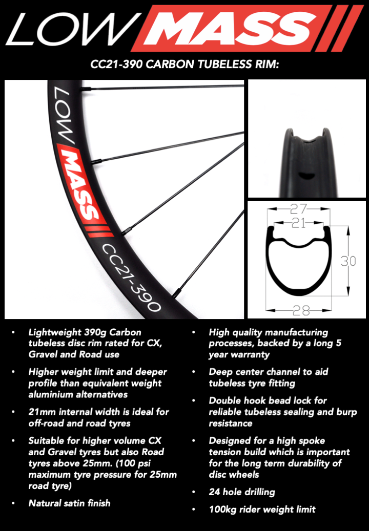 LOWMASS CARBON TUBELESS