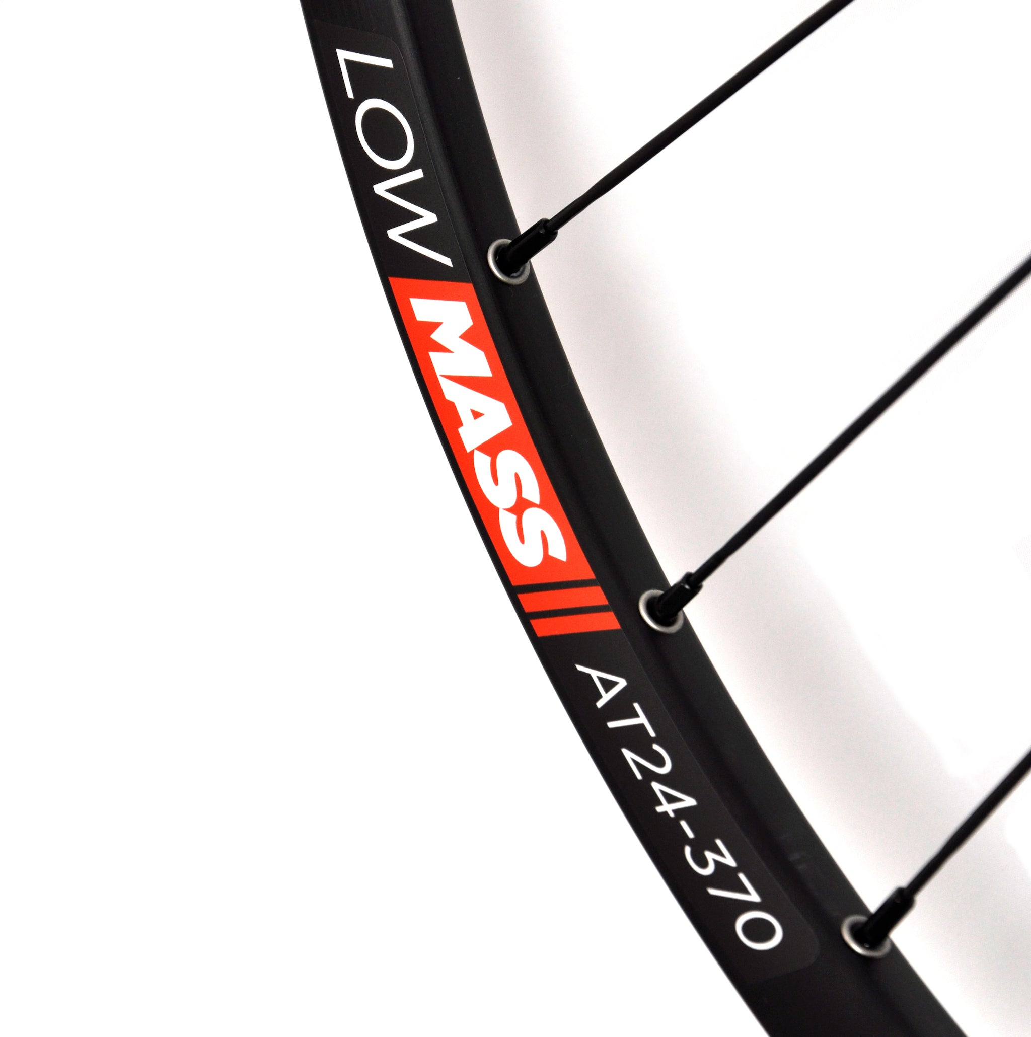 LOWMASS AT24-370 TUBULAR CYCLOCROSS WHEELS with SAPIM CX-RAY SPOKES