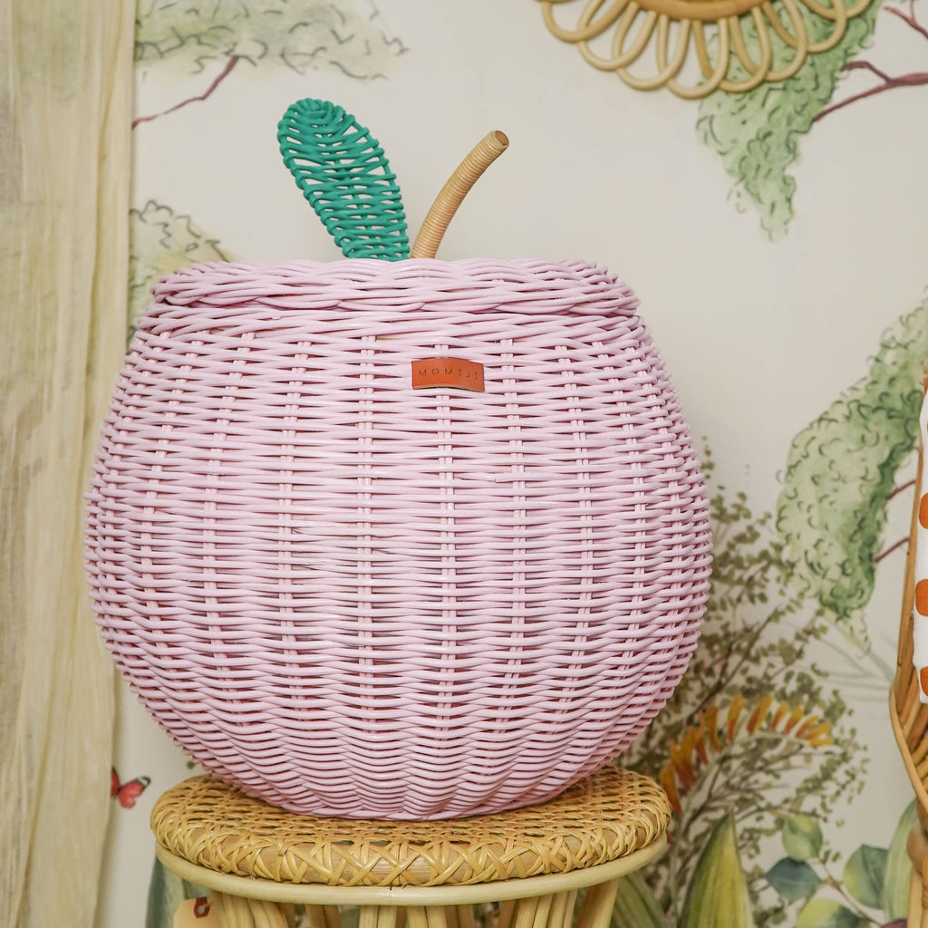 Apple Storage Basket - Soft Pink