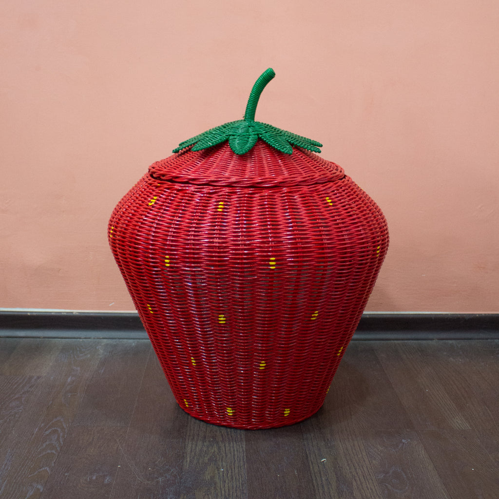 (As-Is) Strawberry Storage Basket - Red