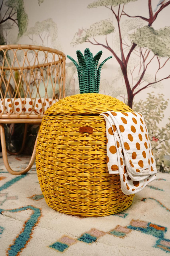 Pineapple Storage Basket - Yellow [Delivery end April/early May 2021]