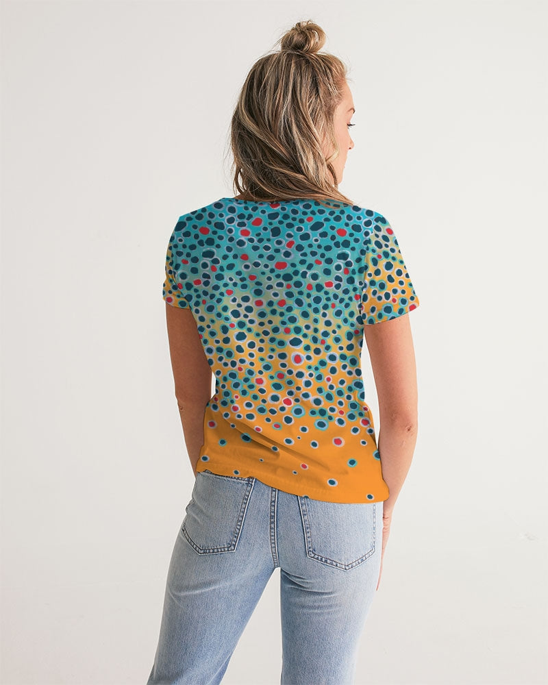 Brown Trout V Neck Tee