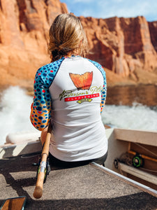 Yellow Sally Trout Print UPF Fishing Shirt
