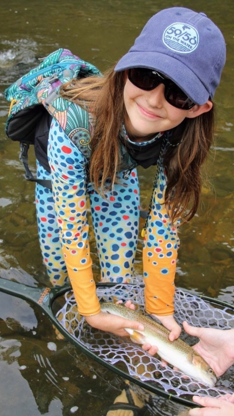 Youth Brown Trout UPF Shirt (size 8-20)