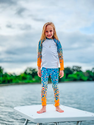 Girl Trout Print UPF Shirt (Sizes 2T-7)