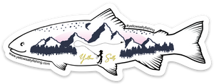 Yellow Sally Trout Sticker
