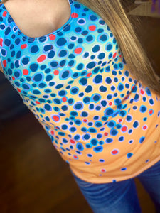 Yellow Sally Trout Print Tank