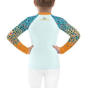 Girl Brown Trout Fishing Shirt (Sizes 2T-7)